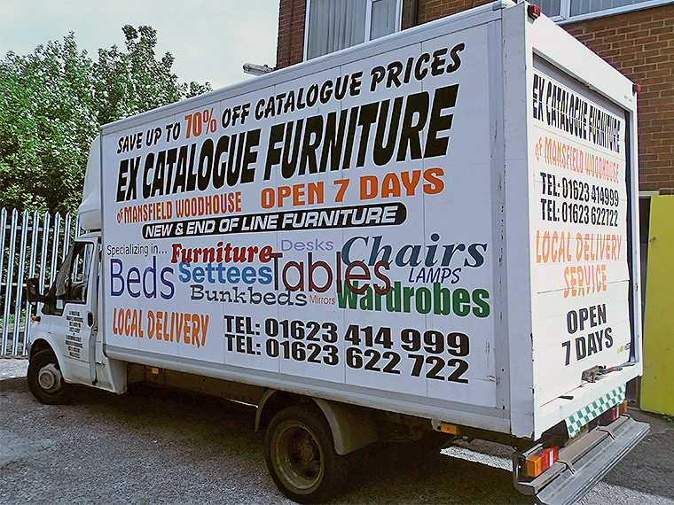 The Ex Catalogue Furniture delivery van.